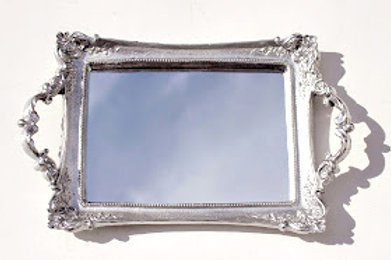 351 - bandeja em resina espelhada