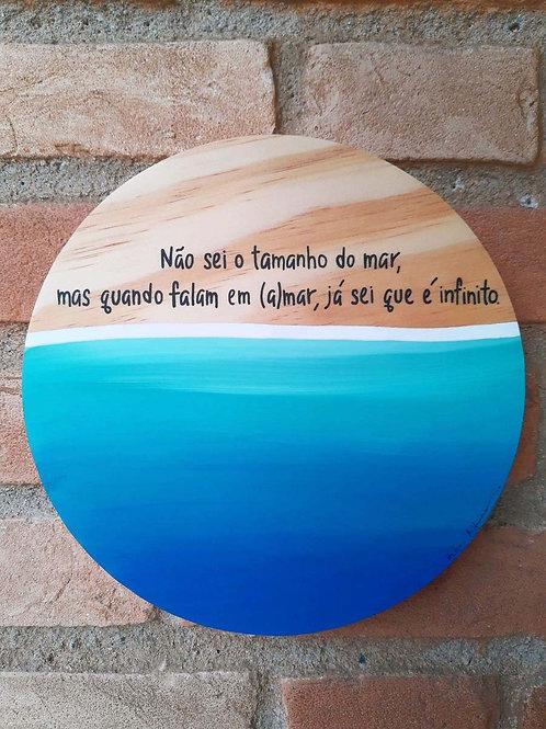 "Placa decorativa ""(a)mar infinito"""