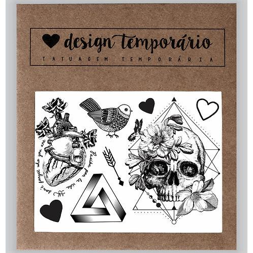 Cartela Tatuagem temporária Geométrica
