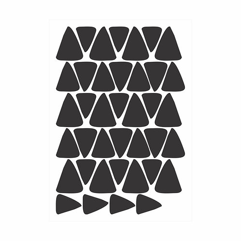Adesivos de parede Triângulos Irregulares