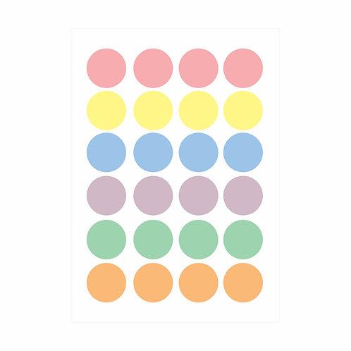 Adesivos de parede Bolas Candy Colors