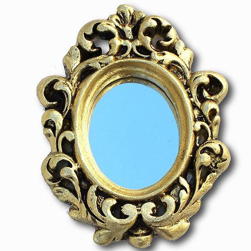 411 - espelho com moldura oval