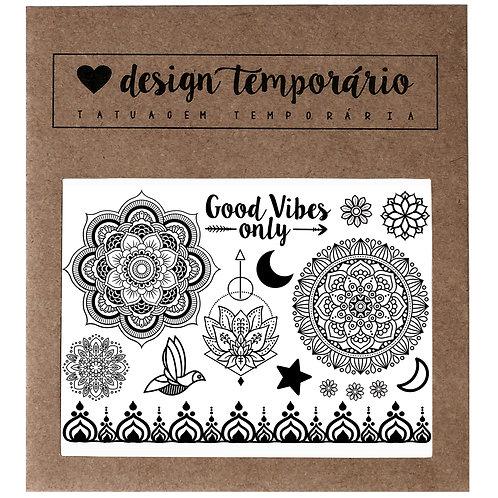Tatuagem Temporária Good Vibes