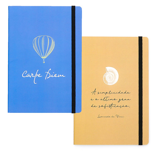 Duo - Kit 2 cadernos - Carpe Diem & Da Vinci