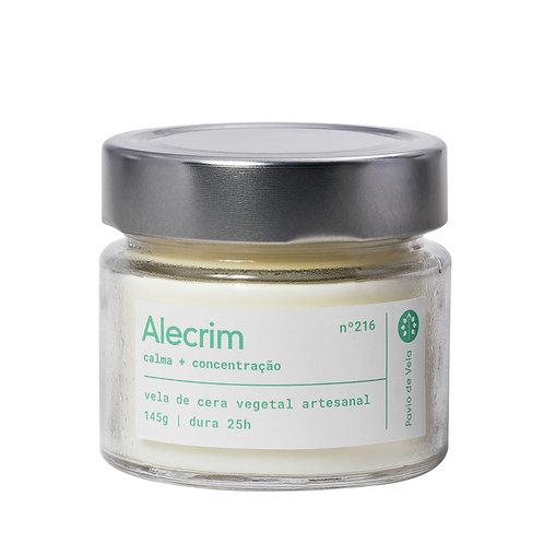 Vela Perfumada Pavio de Vela: Alecrim+Menta No.301 - 190g