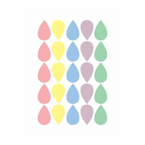 Adesivos de parede Gotas Candy Colors