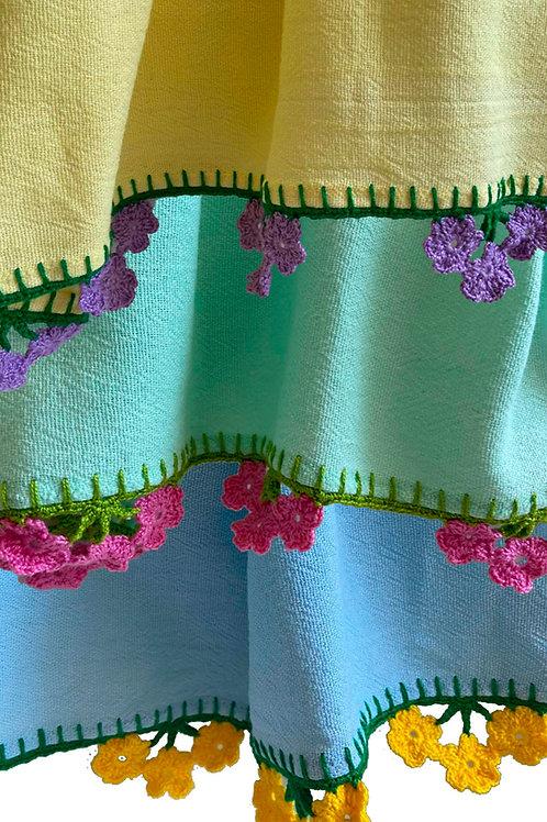 Pano de Prato flor cores
