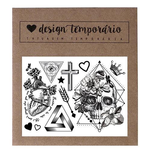 Tatuagem Temporária Geométrica
