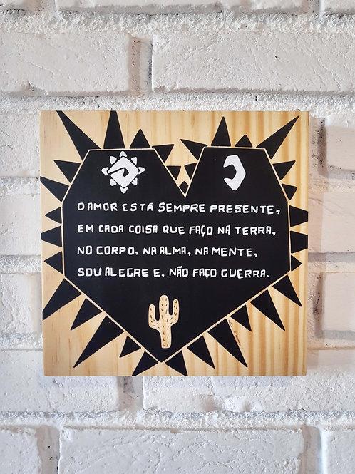 "Placa decorativa ""Cordel do amor"""