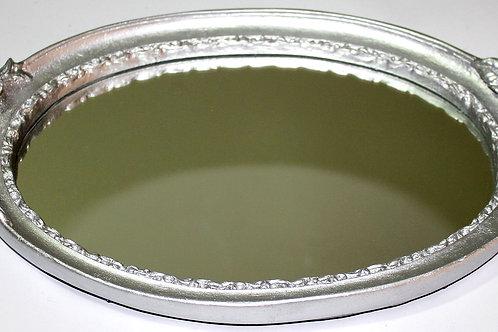 355 - bandeja em resina espelhada