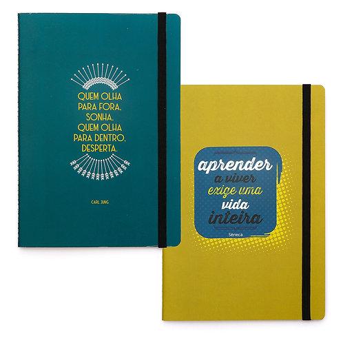 Duo - Kit 2 cadernos - Jung & Sêneca