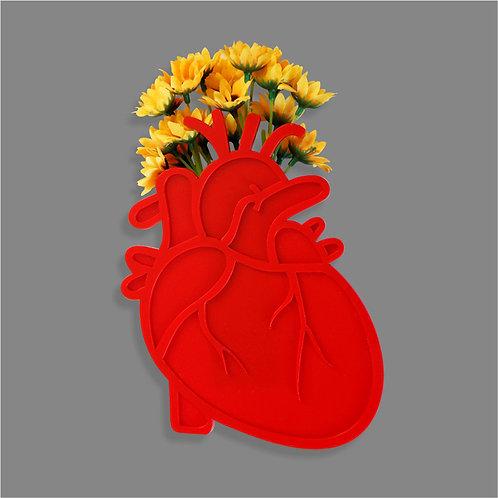 Vaso de Parede Coração Anatômico