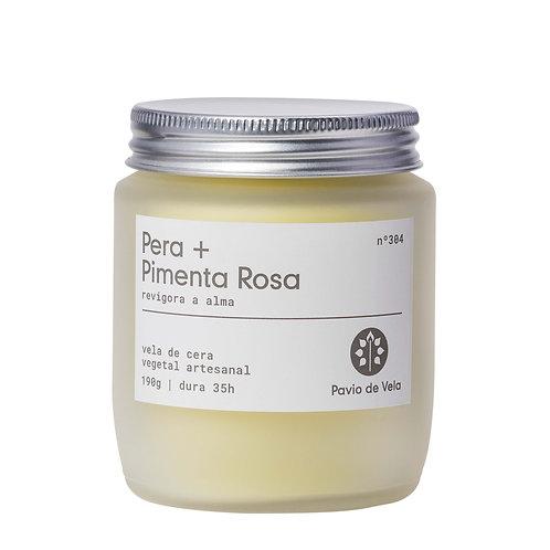 Vela Perfumada: Pêra+Pimenta Rosa No.304 - 190g