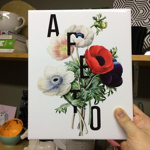 AZULEJO DECORATIVO BOTÂNICO AFETO - SANTOS & ENCANTOS