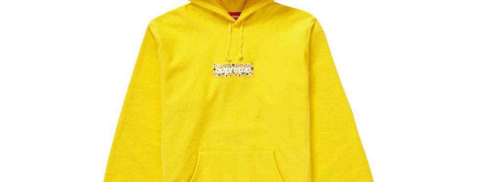 Supreme Bandana Box Logo Hooded Sweatshirt Yellow