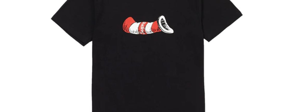 Supreme Cat in the Hat Tee Black