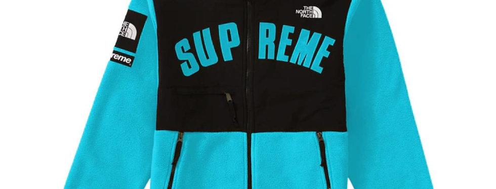 Supreme The North Face Arc Logo Denali Fleece Jacket Teal