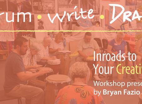 Drum Write Draw: a Workshop with Bryan Fazio