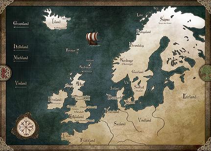 Carte des Sagas des Mers Grises - Pierre Efratas