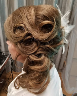 I love the wedding season! My beautiful client on her wedding day!!_#goldwellapprovedus  #goldwellar