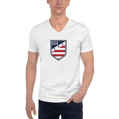New Crest - Unisex Short Sleeve V-Neck T-Shirt