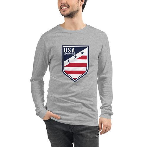 USA Deaf Soccer Crest - Unisex Long Sleeve Tee