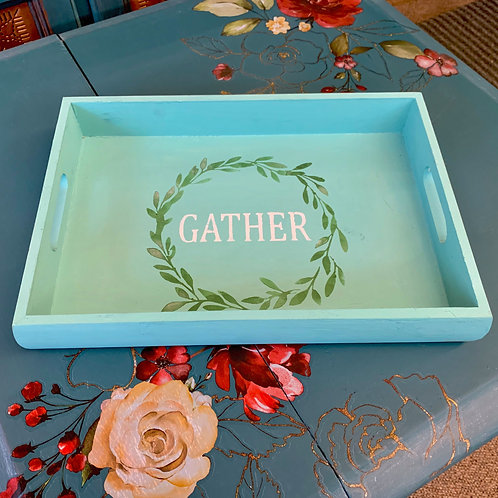 DIY Craft Kit - Wood Tray with Sides