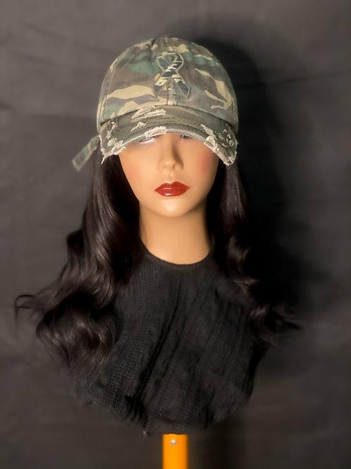 """16 inch Raw Indian Hair Hat"""