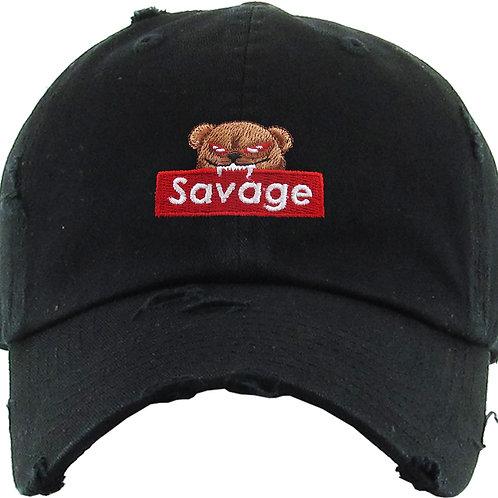 """""""SAVAGE"""" VINTAGE DISTRESSED DAD HAT"""