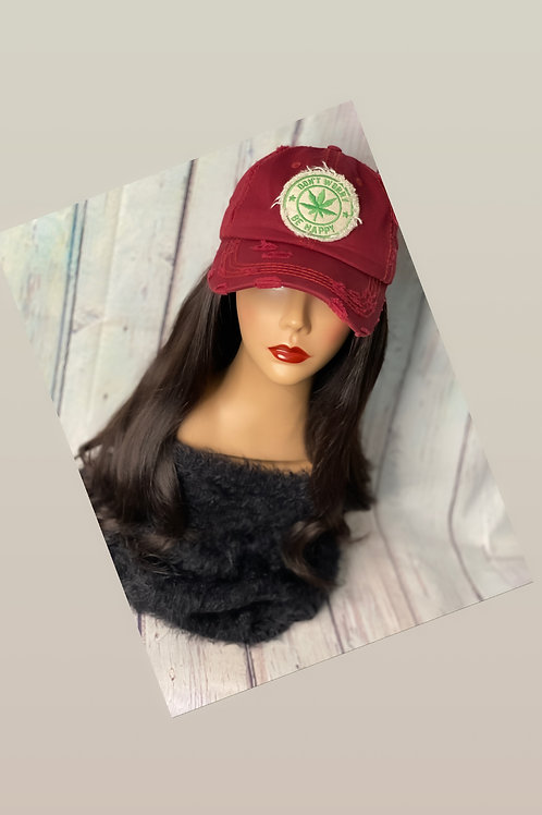 """""""18""""& 20"""" Raw Indian Hair Hat""""(Don't Worry Be Happy)"""