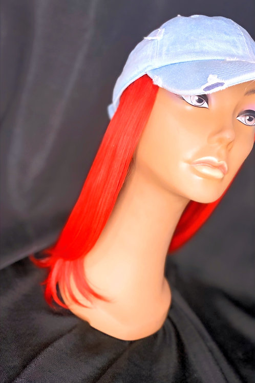 """RED 10"""" 12"""" 14"""" Yaky Human Hair Hat"""