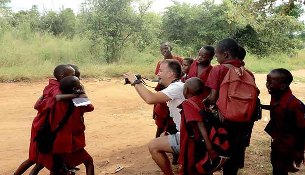 Mike-In-Zambia-Photographing-School-Kids