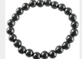 Bracelet Perles Rondes Hématite - 8 mm