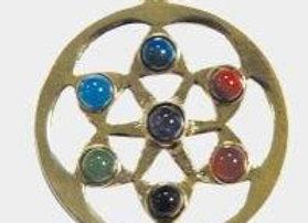 Pendentif mandala 7 chakras