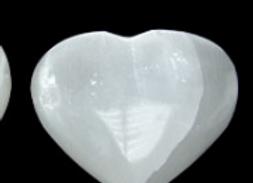 Coeur en sélénite 7 cm