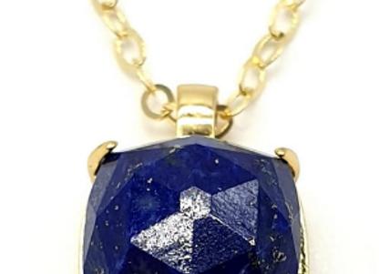 Collier Argent 925 en Lapis Lazuli