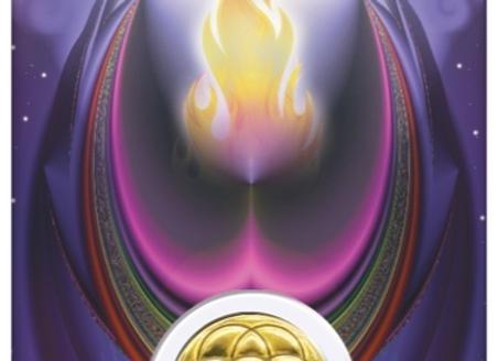 Médaille sur carte Archange Métatron