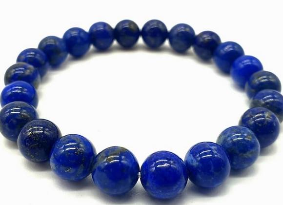 Bracelet en Lapis Lazuli perles de 8 mm