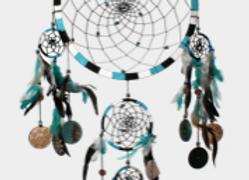 Attrape Rêves Bleu Turquoise - Grand modèle