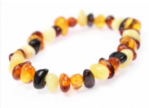 Bracelet Enfant en ambre multicolore