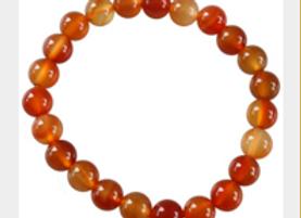 Bracelet Perles Rondes Cornaline - 8 mm