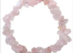 Bracelet Baroque Quartz rose
