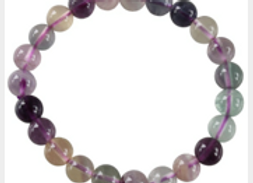 Bracelet Perles Rondes Fluorite - 8 mm