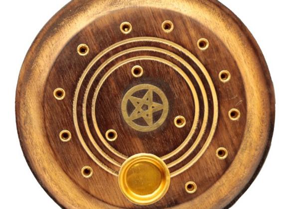 Porte encens bâton et cône Pentacle de protection