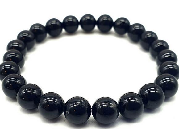 Bracelet en Tourmaline perles de 8 mm