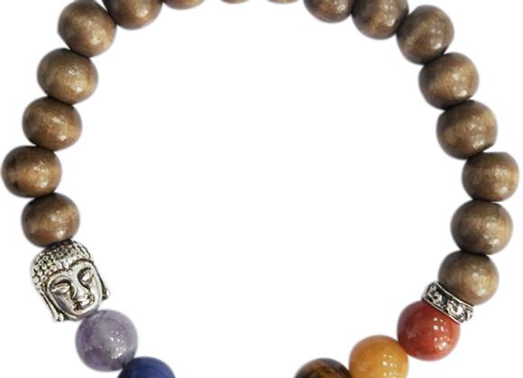 Bracelet 7 Chakras et oeil de tigre
