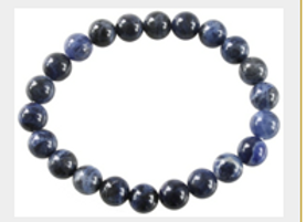 Bracelet Perles Rondes Sodalite - 8 mm