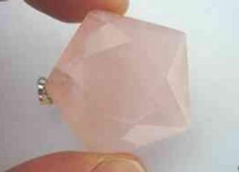Pendentif étoile de David en quartz rose et argent