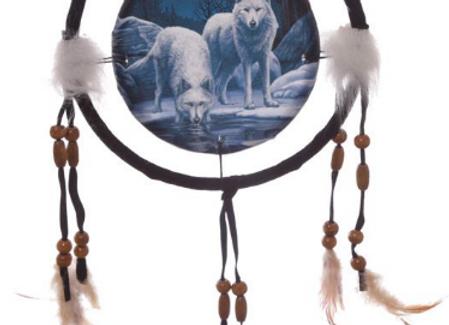 Attrape rêve 16 cm loups guerrier par Lisa Parker