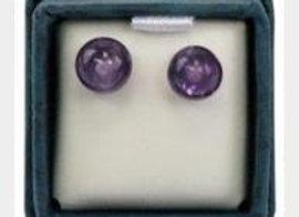 Boucles d'oreilles perle d'améthyste - 6 mm